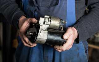 Демонтаж и замена стартера Renault Duster