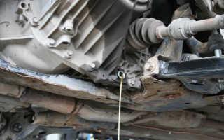 Как заменить масло в коробке передач