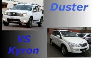 Сравнение автомобилей Дастер и Кайрон