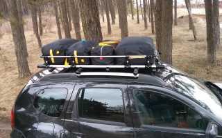 Багажник на рейлинги Рено Дастер