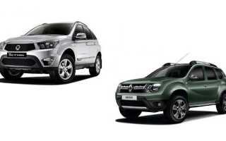 Сравнение автомобилей Актион и Дастер