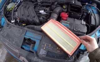 Как заменить воздушный фильтр на Дастере