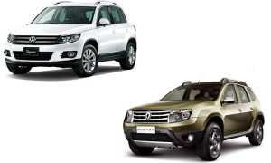 Сравнение Volkswagen Tiguan и Renault Duster
