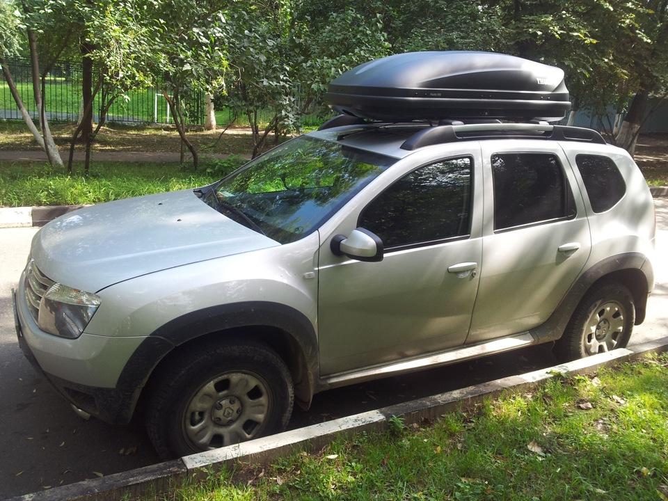 Багажник на рейлинги Дастер
