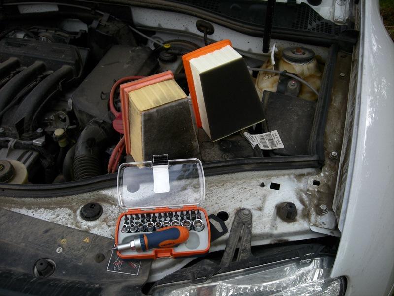 Процедура замены на бензиновом двигателе
